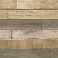 Porter Wheat Weathered Plank Wallpaper
