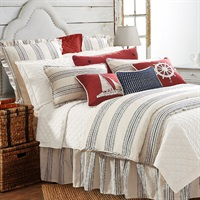 Prescott Navy 3 PC Duvet Set