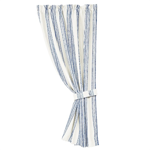 Prescott Navy Striped Curtain
