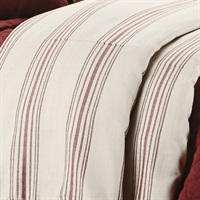 Prescott Red 1PC Duvet