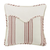 Prescott Red Red Square Pillow