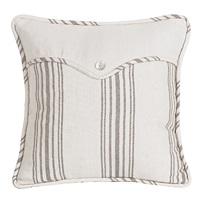 Prescott Taupe Square Pillow