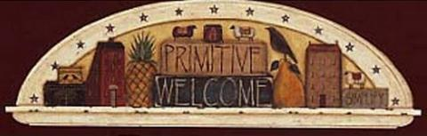 Primitive Welcome Arch - Wall Mural