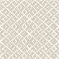 Puck Light Brown Geometric Wallpaper