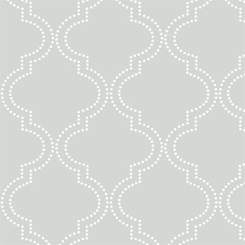 Grey Quatrefoil Peel & Stick Wallpaper