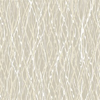 Quinn Beige Twist Wallpaper