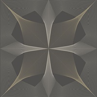 Radius Dark Brown Geometric Wallpaper