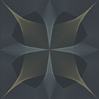 Radius Navy Geometric Wallpaper