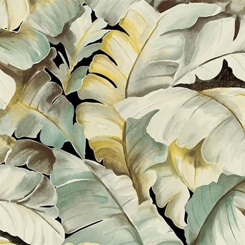 Ramsay Green Banana Leaf Wallpaper