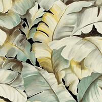 Ramsay Green Banana Leaf Wallpaper