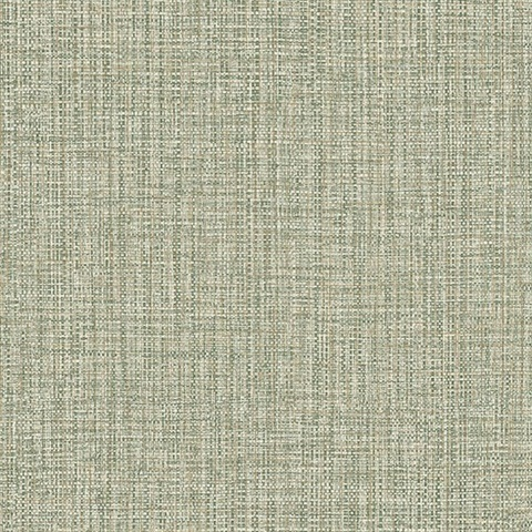 Rattan Green Woven Wallpaper