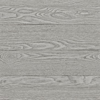 Ravyn Grey Salvaged Wood Plank Wallpaper