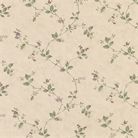 Ree Beige Mini Floral Trail Wallpaper