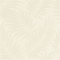 Regan Ivory Palm Fronds Wallpaper