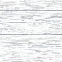 Rehoboth Light Blue Distressed Wood Wallpaper