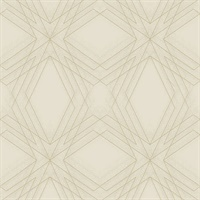 Relativity Beige Geometric Wallpaper