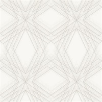 Relativity Off-White Geometric Wallpaper