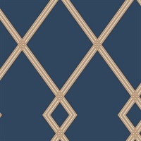 Ribbon Stripe Trellis Wallpaper