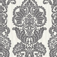 Rochester Charcoal Damask