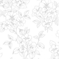 Romeo Off-White Floral Trail Wallpaper