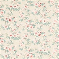 Rosamond Floral Pale Cranberry