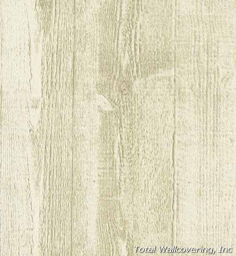 He1001 White Faux Wood Textured Wallpaper