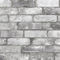 Rustin Grey Reclaimed Bricks Wallpaper