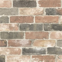 Rustin Red Reclaimed Bricks Wallpaper