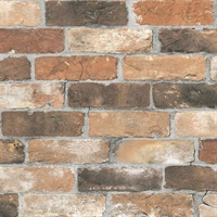 Rustin Rust Reclaimed Bricks Wallpaper