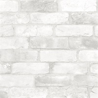 Rustin White Reclaimed Bricks Wallpaper