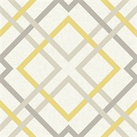 Saltire Emile Yellow Lattice Wallpaper