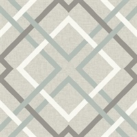 Saltire Taupe Geometric Wallpaper