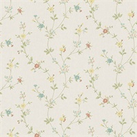 Sameulsson Cream Small Floral Trail Wallpaper