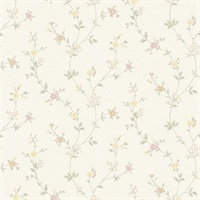 Sameulsson Eggshell Small Floral Trail Wallpaper