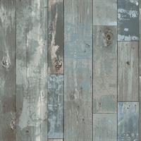 Deena Grey Weathered Wood Wallpaper