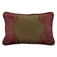 San Angelo Tan with Red Leather Pillow