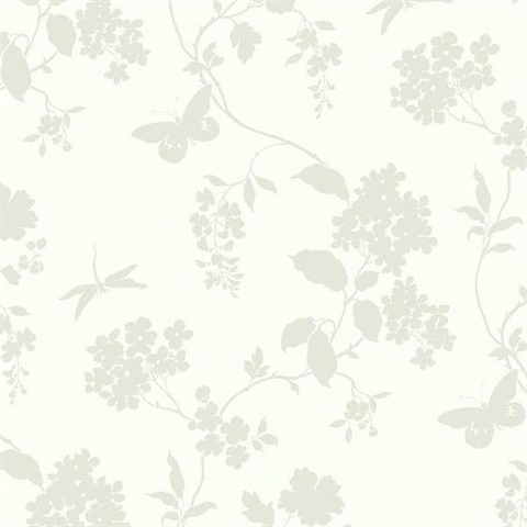 Ashford House Scenic Vines Wallpaper - White