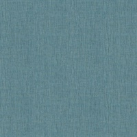 Seaton Teal Linen Texture Wallpaper