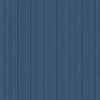 Sebasco Denim Vertical Pinstripe Wallpaper