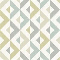 Seesaw Grey Geometric Faux Linen Wallpaper