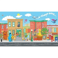 Sesame Street Pre-Pasted Mural