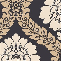 Daisy Damask Wallpaper