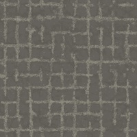 Shea Charcoal Distressed Geometric Wallpaper
