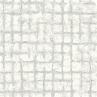 Shea Light Grey Distressed Geometric Wallpaper