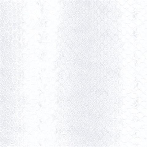 G67431 Pearl White Snakeskin Print Wallpaper Total Wallcovering
