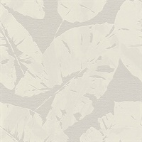 Shylock Light Grey Banana Leaf Wallpaper