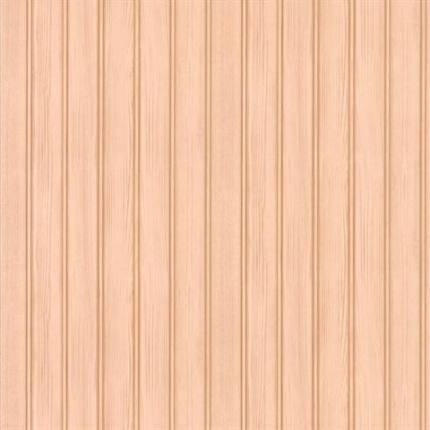 Silva Taupe Wood Panelling Wallpaper