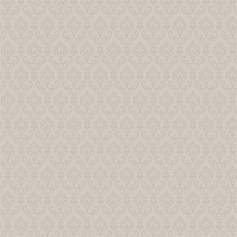 Small Damask  in Taupe