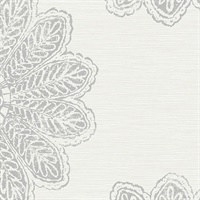 Sol Light Grey Medallion Wallpaper