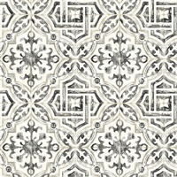 Sonoma Charcoal Spanish Tile Wallpaper
